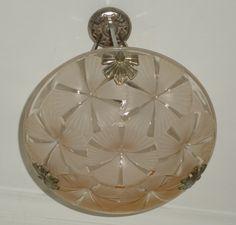 Vintage Art Deco Light Fixture Signed Degue 1930s by Decofanatique, $350.00