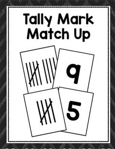 Use these cards to reinforce tally marks with your students. Copy onto colored paper to create multiple game sets that can be used in a variety of ways.  Copyright © Tiffani Mugurussa Time4Kindergarten.com Like Time4kindergarten on Facebook Follow me on Pinterest http://pinterest.com/mugurussa