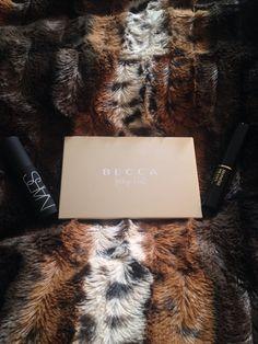 Becca champagne glow palette. Nars audacious mascara & Lancome hypnose drama mascara
