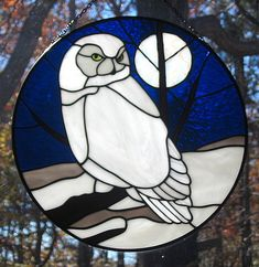 Stained Glass Snowy Owl Suncatcher by livingglassart home of oddballs and oddities, via Flickr