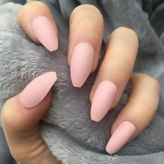 Baby Pink Matte Coffin – Doobys Nails