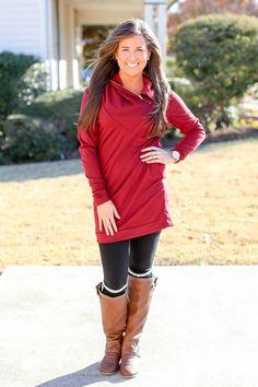 love this website!! My World Tunic Dress - Burgundy