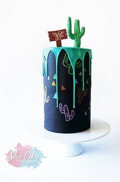 Mexican cactus cake www.slicecakes.com