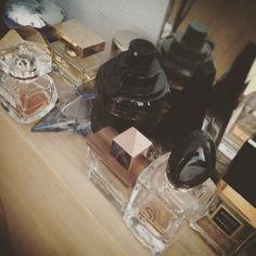Some of my favorite fragrances... #perfume #viktorandrolf #spicebomb #chanel #coco #eliesaab #leparfum #dsquared2 #wood #thierrymugler #angel #givenchy #angeaudemon #pacorabanne #ultraviolet #ladymilion #dolceandgabbana #one #cartier #baiservolé