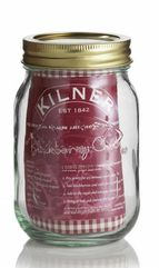 A 500ml Kilner Jar  with a separate metal heat sealable disc and 68mm screw band.