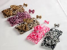 Cute 3D Plush Bow Bowknot Leopard PC Case Cover Skin for iPhone 5
