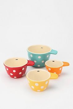 Polka Dot Measuring Cup - Set Of 4 - Add this to your registry on registrylove.com <3 from http://www.urbanoutfitters.com/urban/catalog/productdetail.jsp?id=25600065=A_FURN_DINNERWARE
