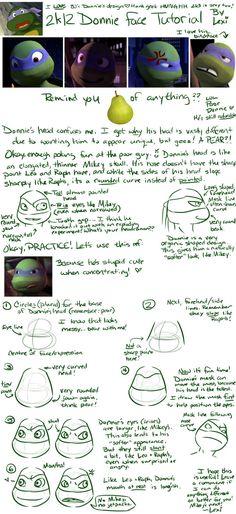TMNT Tutorial: Don's face by Fulcrumisthebomb on DeviantArt