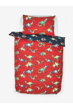 2 Pack Splatter Dinosaur Reversible Duvet Cover And Pillowcase Set Childrens Bed Linen, Bold Colors, Colours, Double Duvet Covers, Linen Bedding, Pillow Cases, Packing, Uk Online, Room