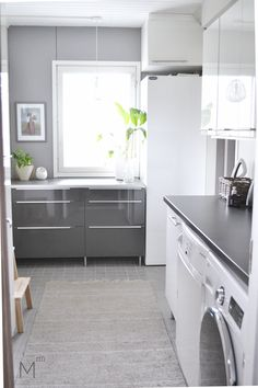 Laundry room's makeover reveal, client project after the makeover. Interior design by Marika Ritala-Mäkinen. Room Makeover, Decor, Interior Design, Laundry Room Makeover, Makeover, Room, Interior, Kitchen, Home Decor