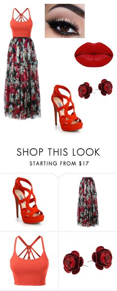 """""""outfit 2"""" by taylor-ross115 ❤ liked on Polyvore featuring Prada, Dolce&Gabbana, LE3NO, Michal Negrin and Winky Lux"""