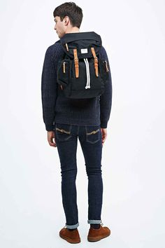 Shop Sandqvist Lars-Göran Rucksack in Black at Urban Outfitters today.