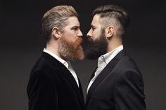"""cleverprime: """" Me and my friend Rafael recently having some kind of beard confrontation. """""""
