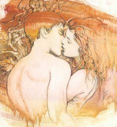 Kiss - drawing by Anna Ewa Miarczynska