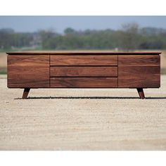 Eastvold Furniture Alden Side Board - This is a solid walnut piece that works great for media equipment or dining room storage. Top Furniture Stores, Tv Furniture, Custom Furniture, Furniture Design, Furniture Ideas, Cheap Furniture, Modern Wood Furniture, Antique Furniture, Plywood Furniture