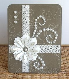 Ideas of Handmade Card With Ribbons | Trendy Mods.Com
