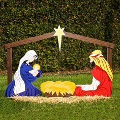Outdoor nativity sets holy family baby jesus and yard decorations outdoor nativity sets mozeypictures Images