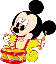 Baby Mickey Drumming