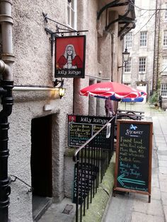 Jolly Judge in Edinburgh, Edinburgh Often missed by folks visiting Edinburgh, this pub is tucked away down an alley just off the Royal Mile. Although cosy, this pub has a great atmosphere and is a brilliant place to unwind with a quiet pint with friends.
