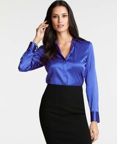 Ann Taylor - AT Blouses Tops - Silk Legacy Button Down Blouse