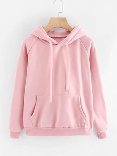 Casual Pink Sweatshirt Kangaroo Pocket Drawstring Hoodie Pullovers Fall Women Clothing Long Sleeve Cute Sweatshirts Size M Color Pink Hoodie Sweatshirts, Sweat Shirt, Vetement Fashion, Striped Bikini, Neue Trends, Winter Outfits, Cute Outfits, Fashion Outfits, Fashion Fashion