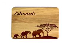 Personalized Cutting board Family tree Wedding elephants Gift for family Mother…