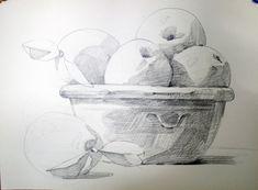 남일 수채화 Gallery Easy Drawings, Pencil Drawings, Object Drawing, Food Painting, Sketch Notes, Still Life Art, Shape And Form, Art Sketches, Art For Kids