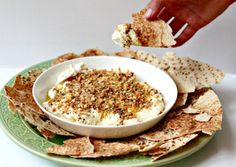 Milk and Honey: Labne with Nutty Cumin Dukkah and Pita Chips