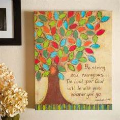 Christian Art > Religious Courageous Painting Bible Verse Oil Painting ...