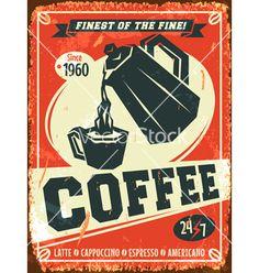 Coffee background vector by Laralova on VectorStock®