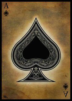 Ace of spades by *gaberios on deviantart carta coringa, baralhos, estampas, Ace Of Spades Tattoo, Spade Tattoo, Ace Card, Playing Cards Art, Pokerface, Card Tattoo, Dice Tattoo, Deck Of Cards, Sleeve Tattoos