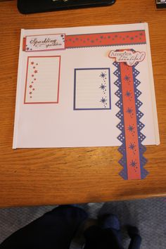 Fourth of July Used the Disney maker for the right hand border punch outs on the red paper