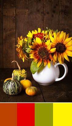 Nothing says fall quite like bright and cheery sunflowers! Incorporating the happy flower into your autumn decor will brighten up any room! For more decor and design inspiration - bhgrelife.com