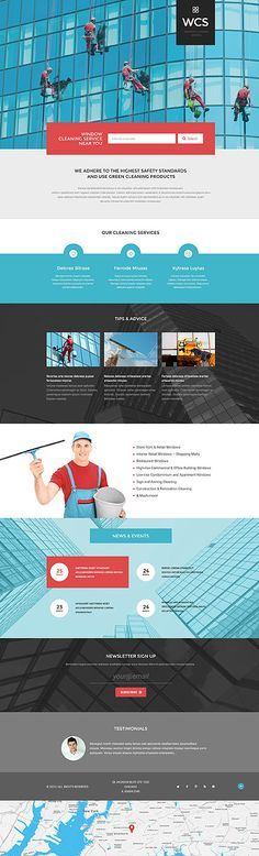 Template 54617 - Wcs Window  Responsive Landing Page Template