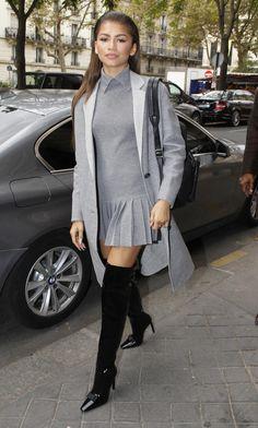 Zendaya out during Fashion Week in Paris 10/3/15