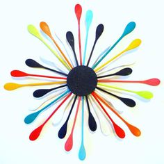 Wooden Spoons- DIY Art Would be a great Kitchen Clock