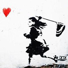 LEINWAND Dede AFTER LOVE HERZ(ab)20x20cm Streetart von STREET ♥ HEART - Finest streetart from berlin auf DaWanda.com