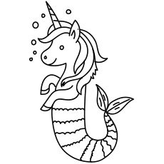 Mermaid And Unicorn Coloring Pages Getcoloringpages Org