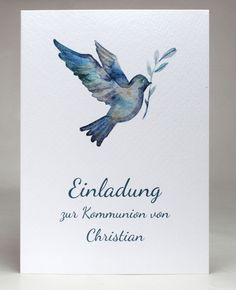 Einladungskarten Kommunion Konfirmation personalisiert inkl. Text Druck Umschlag
