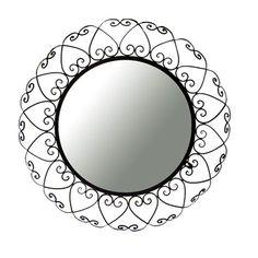 Ashton Sutton Wrought Iron Round Wall Mirror $75.76