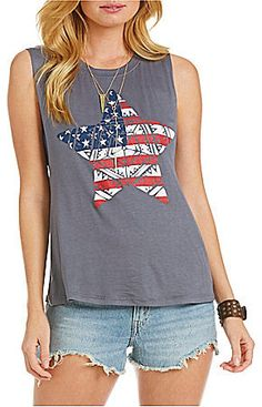 Penelope Project Patriotic American Flag Tank Top