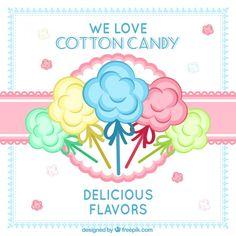 Cartel de algodón de azúcar vector gratuito Nail Art Cupcake, Poison Ivy Costume Diy, Vanilla Macarons, Dessert Illustration, Macaron Flavors, Summer Party Decorations, Carnival Birthday Parties, Candy Floss, Paw Patrol Birthday