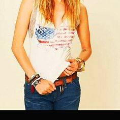 Free People flag top...perfect for that 4th party $68
