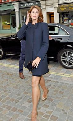 Gemma Arterton exit the car and walking on the street of London