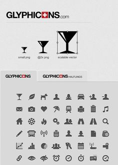 Thousands of free Vector icons and Icon Webfont for Interfaces and Responsive web design.