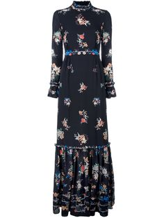 Vilshenko Sinead Floral-print Silk Maxi Dress In Florals Designer Evening Dresses, Designer Gowns, Evening Gowns, Hijabi Gowns, Simple Long Dress, Classy Outfits, Beautiful Dresses, Vintage Dresses, Clothes For Women