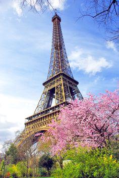 Paris in the Spring! By the Eiffel Tower... #Paris #Spring #Printemps #France #VisitParis #IleDeFrance #EiffelTower #TourEiffel #frenchmoments