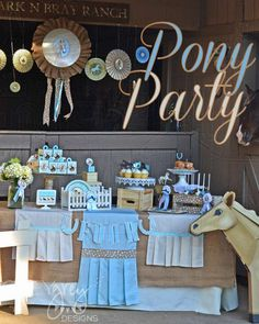 Love this pony party the pony is amazing as are all the decorations! GreyGrey Designs: Pony Party with Birthday Express Horse Birthday Parties, Picnic Birthday, 1st Boy Birthday, Birthday Ideas, Cowgirl Birthday, Barbie Birthday, Horse Party, Cowgirl Party, Western Parties