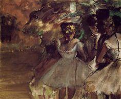 Three Dancers behind the Scenes by @edgar_degas #impressionism
