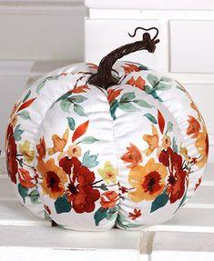 Decorative Plush Harvest Pumpkins The Lakeside Collection Halloween Pumpkins, Halloween Decorations, Fall Decorations, Lakeside Collection, Pumpkin Decorating, Decorating Ideas, Fall Harvest, Autumn, Painted Pumpkins